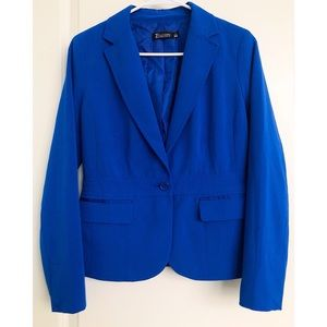 New York & Co Bright Blue Blazer 6P NWOT